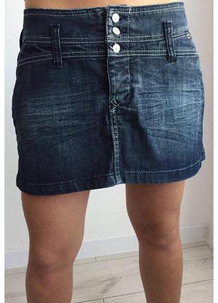 Юбка, классная мини-юбка, джинсовая юбка. спідниця джинс качес...