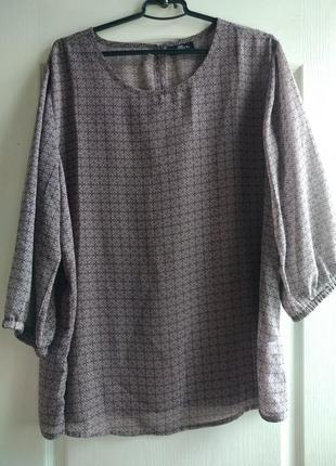 Стильная блузка, туника из шифона