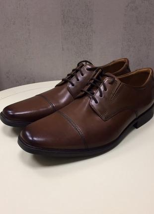 Мужские туфли clarks, новые, кожа, оригинал, размер 45.