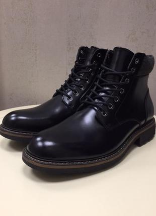 Ботинки мужские bp, кожа, новые, размер 44,5.