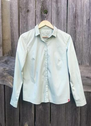 Рубашка нежного оливкового цвета