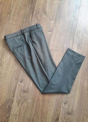 Сірі плотніші завужені класичні брюки (h&m
