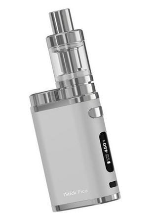 Электронная сигарета Eleaf iStick Pico 75 W, айстик пико, СЕРЕБРО