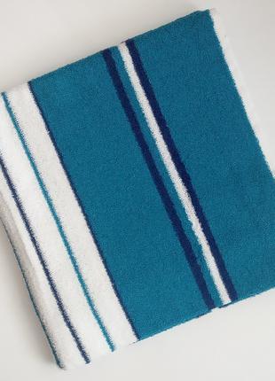 Полотенце лицевое махровое 100х50 см Бирюзовый с белым
