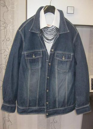 26-28 cупер батальная джинсовая куртка пиджак на корпулентную ...