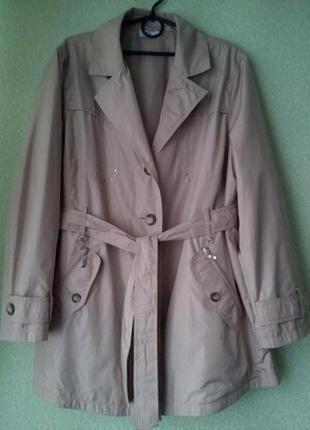 Легкая куртка ветровка /укороченный тренч плащ