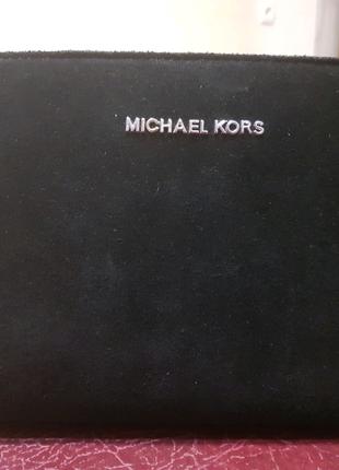 Сумка сумочка женская Michael Kors Selma mini черная замша екокож