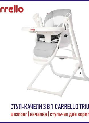 Электронный стульчик. Столик для кормления CARRELLO Triumph