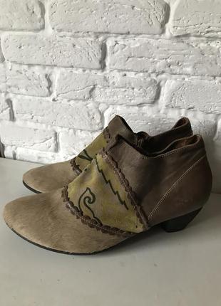 Кожаные сапоги ботинки think!