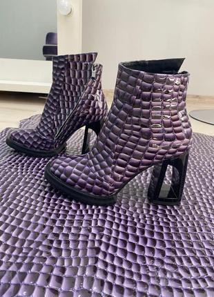 Эксклюзивные ботинки ботильоны женские натуральная кожа