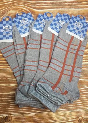 Носки мужские заниженные с рисунком полоска