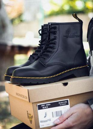 Ботинки dr. martens 1460 black термо черный цвет (36-40)💜