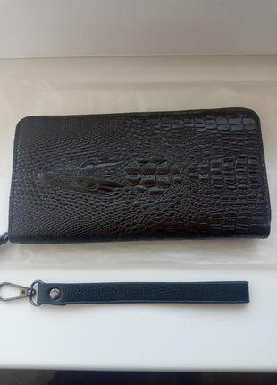 Мужской кошелек портмоне клатч под кожу крокодила