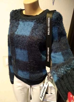 Натуральная шерсть стильный джемпер свитер кофта пуловер