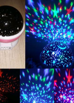 Проектор-Звездное небо,Ночник,STAR MASTER,USB,лед,крутящийся,ламп