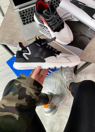 Кроссовки adidas nite jogger 3m core black crystal white 🆕 куп...