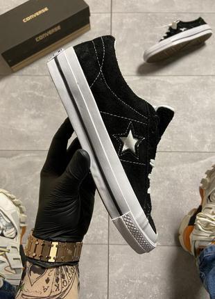 😉converse one star premium suede black😉кеды конверс
