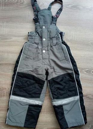Детские теплые лыжные штаны на мальчика