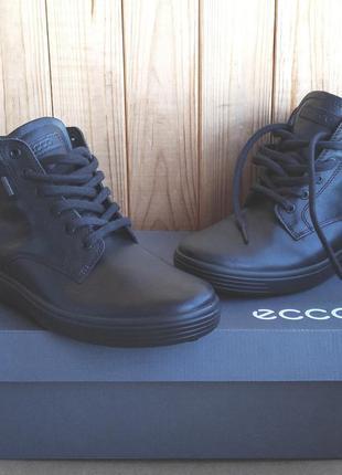 Суперские кожаные ботинки ecco soft 7 на мембране gore tex