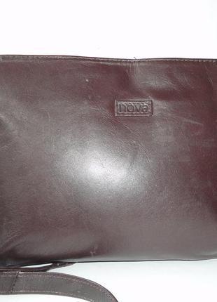 Кожаная сумка через плече ( 25х18х5, ручка 135)
