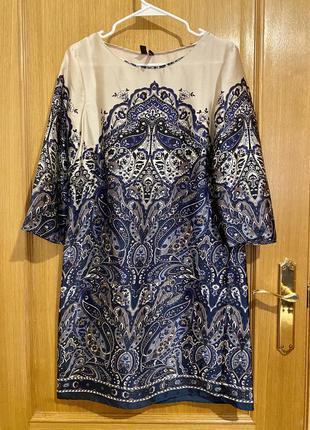 Потрясающее платье под шёлк mango 36-38р