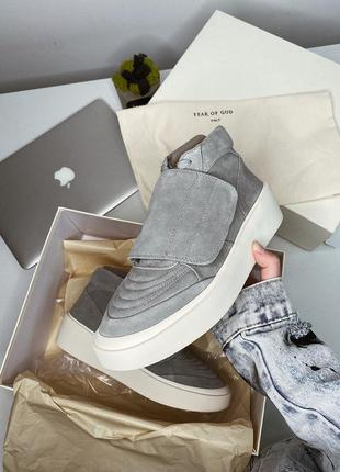 Кроссовки nike fear of god - gray front flap mid-top 🆕 купить ...