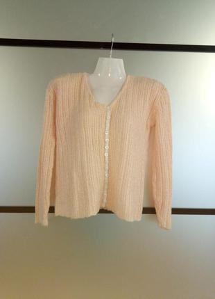 Нежный тонкий укороченный свитер. шерстяная кофточка. тонкий ш...