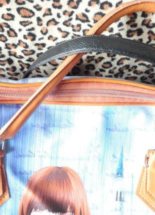 Дорожная сумка большая девочка (42х38) + длинная ручка