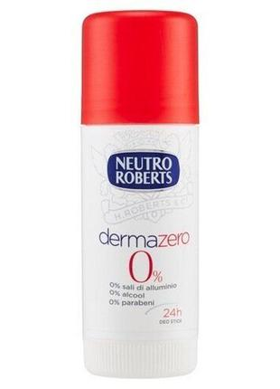 Дезодорант антиперспирант стик neutro roberts dermazero 40 мл