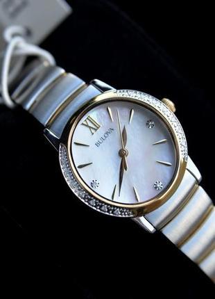 Бриллианты! женские часы с бриллиантами bulova новая коллекция