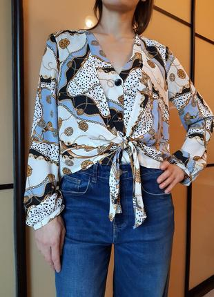 Двухслойная блуза в нарядный, красивый принт от primark