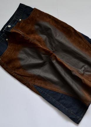 Длинная юбка ,ниже колен , джинсовая и замкожи