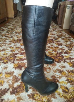 Зимние кожаные сапоги marco pini