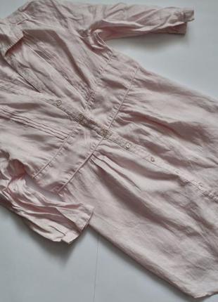 Длинная рубашка, цвет розовый