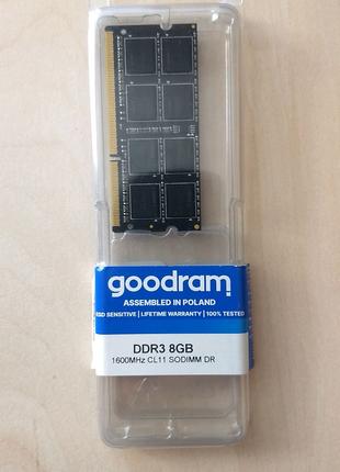 Goodram SODIMM DDR3-1600 8192MB (GR1600S3V64L11/8G)