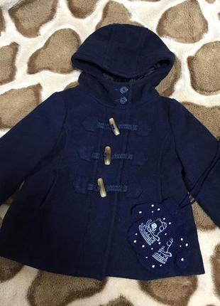 Пальто пальтишко драповое демисезонное