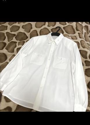 Новая белая рубашка рубаха вышивка батист этно бохо в стиле zara