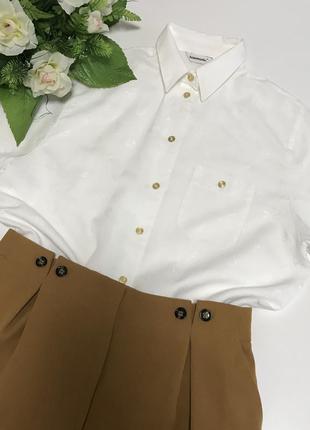 Белая базовая рубашка рубаха бохо стиль большой размер бренд г...