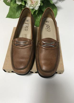 Новые кожаные туфли лоферы бренд jaco германия оригинал