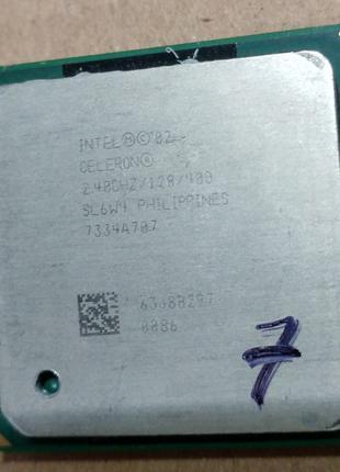 Процессор сокет 478 Intel Celeron 2.40GHz 128K на шину 400МГц