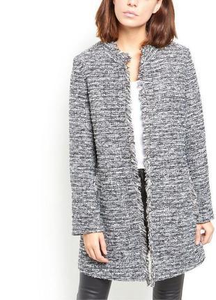 Твидовое пальто/жакет в стиле шанель new look