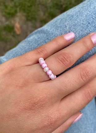 Колечки из бисера , кольцо