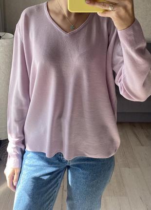 Шерстяной сиреневый свитер, джемпер marks&spencer