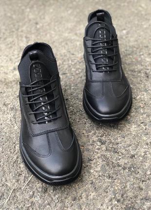Ботинки туфли  мужские демисезонные зима натуральная кожа