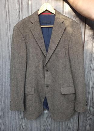 Твидовый шерстяной пиджак tommy hilfiger оригинал