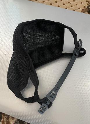 Маска тканевая для лица чёрная с регулируемым креплением за шею