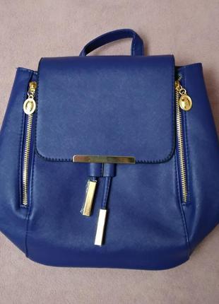 Стильный женский рюкзак городской синий