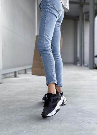 Женские черные кроссовки nike m2k tekno