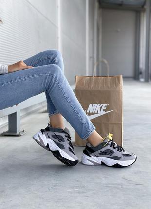 Серые женские кроссовки nike m2k tekno