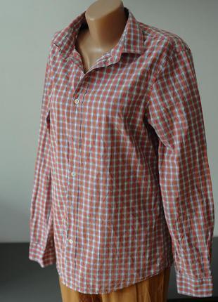 Рубашка хлопковая мужская в клетку.